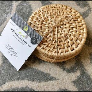 Threshold woven coasters
